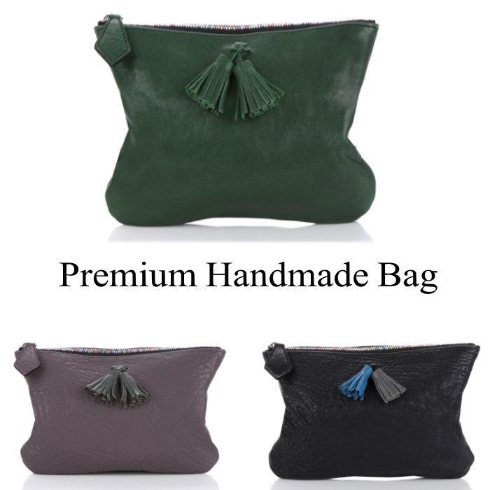 鞄 フリンジレザークラッチバッグ/全4色 本革 本革バッグ レザー クラッチバッグ BAG