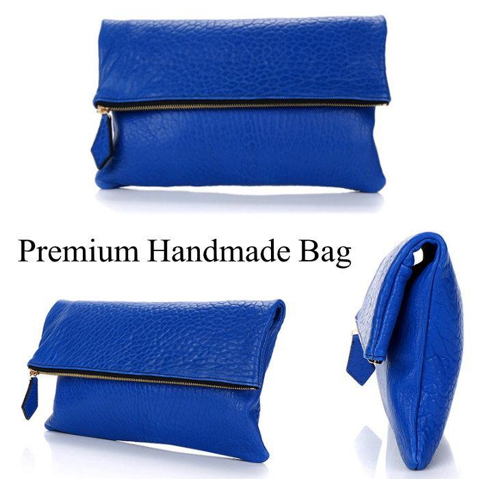 折り返しデザインレザークラッチバッグ/全1色 本革バッグ クラッチバッグ BAG 鞄 レザー 本革