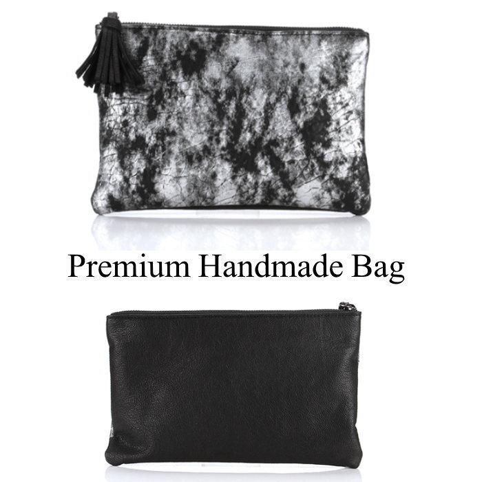 総柄レザークラッチバッグ/全1色 本革バッグ クラッチバッグ BAG 鞄 レザー 本革
