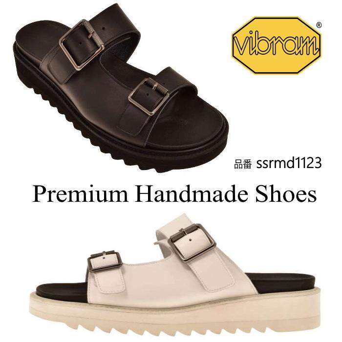 レザーサンダル/全2色 ハンドメイド メンズサンダル サンダル シューズ フラット本革サンダル レザーサンダル 紳士靴