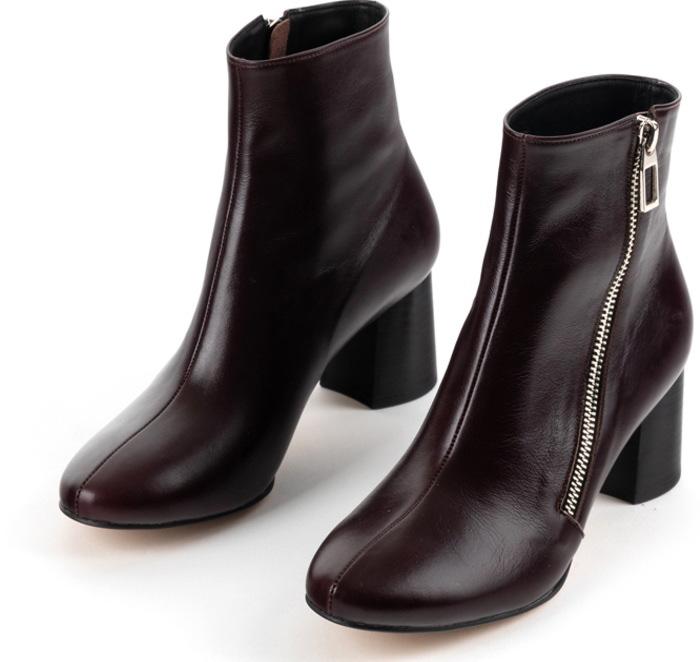 チャンキーヒールレザーショートブーツ ハンドメイドシューズ 本革ブーツ 小さいサイズ 大きいサイズSzVpMqU