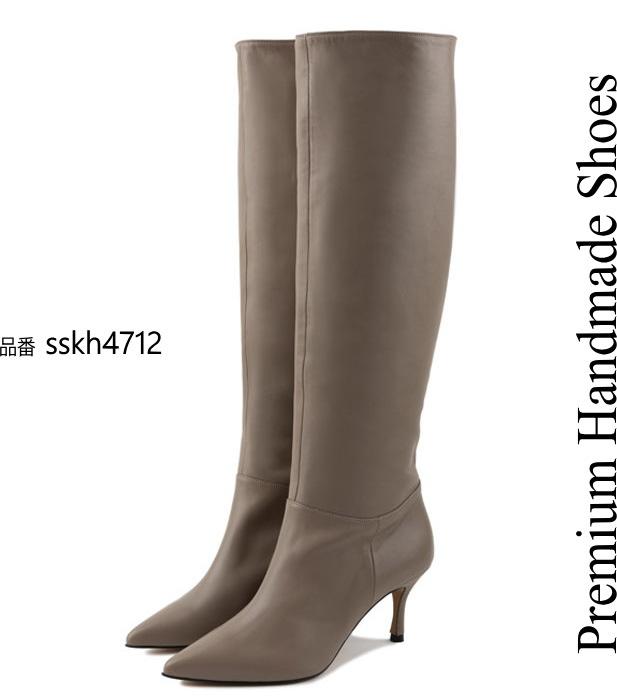 レザーロングブーツ ハンドメイドシューズ 本革ブーツ 当店一番人気 小さいサイズ 大きいサイズ 22cm 22.5cm 24cm 革靴 25cm 24.5cm 25.5cm 注目ブランド 23.5cm 23cm