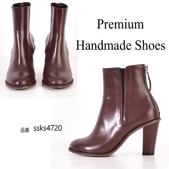 送料無料(一部離島は除く) サイドゴアレザーブーツ 本革ブーツ ハンドメイドシューズ 靴通販