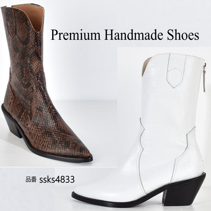 送料無料(一部離島は除く) レザーウエスタンブ-ツ 本革ブーツ ハンドメイドシューズ 靴通販