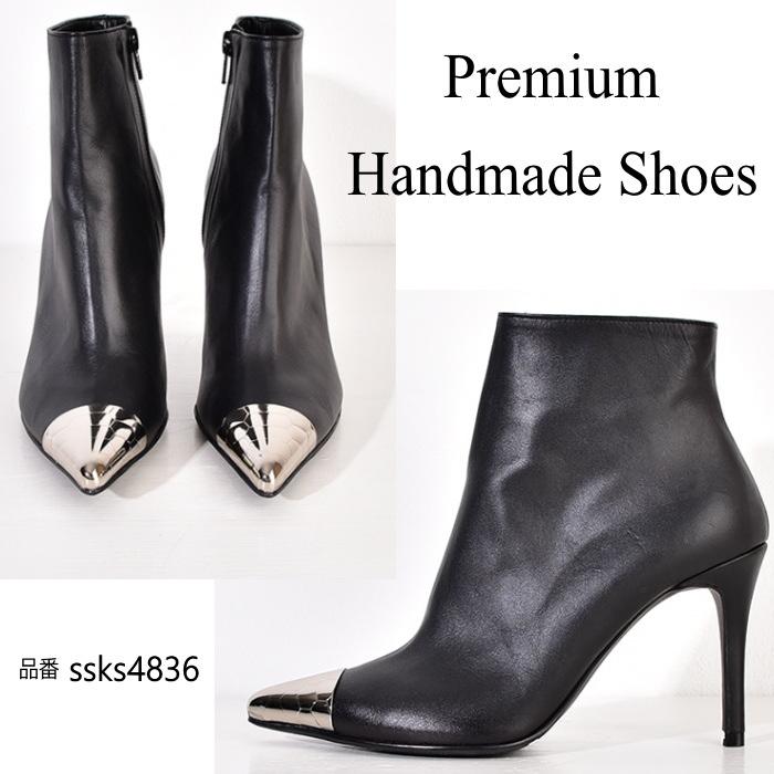 ハンドメイドシューズ 靴通販 本革ブーツ 送料無料(一部離島は除く) ポインテッドトゥレザーブ-ツ