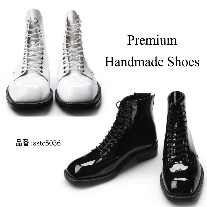 ウィングチップレザーブーツ/全2色 ハンドメイドブーツ メンズブーツ ブーツ レザー 本革 レザーブーツ カジュアル