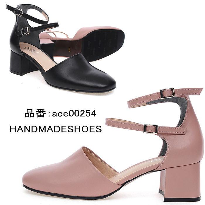 レザーパンプス アンクルストラップ ハンドメイドシューズ 本革パンプス 小さいサイズ 大きいサイズ:最新トレンド靴 SHARE