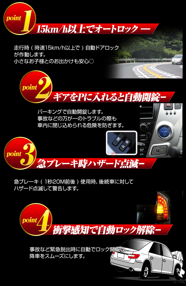 voxy80/noah80 OBD vehicle speed sensing system with outdoor rock unit / noavoxy automatic lock cars speed door OBD2