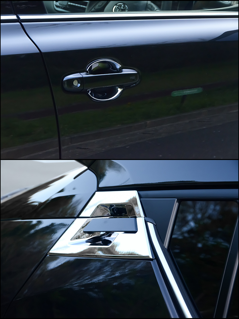 custom car door handles. Door Handle Protector ABS Resin Plating Cover Exterior Parts Custom For Exclusive Use Of C-HR Car Handles