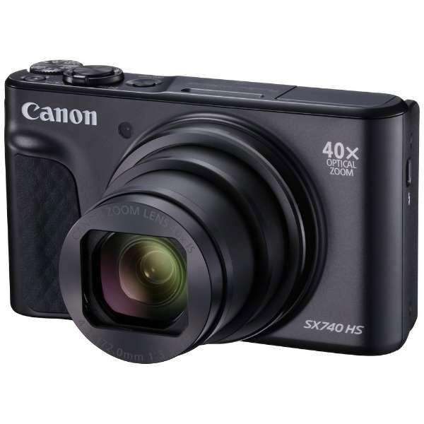 【送料無料】 キヤノン PowerShot SX740 HS ブラック [2030万画素/光学40倍ズーム/4K動画記録/Bluetooth・Wi-Fi搭載/デジタルカメラ/PSSX740HS/Canon]