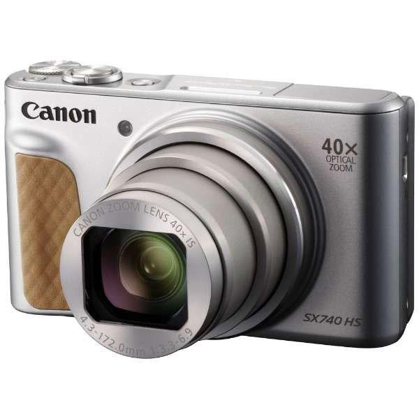 【送料無料】 キヤノン PowerShot SX740 HS シルバー [2030万画素/光学40倍ズーム/4K動画記録/Bluetooth・Wi-Fi搭載/デジタルカメラ/PSSX740HS/Canon]