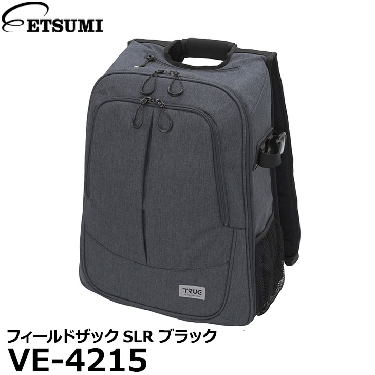 【送料無料】 エツミ VE-4215 フィールドザックSLR ブラック [一眼レフ向け カメラバッグ バックパック]