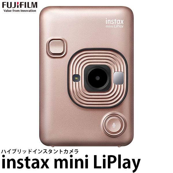 【送料無料】 フジフイルム ハイブリッドインスタントカメラ チェキ instax mini LiPlay ブラッシュゴールド