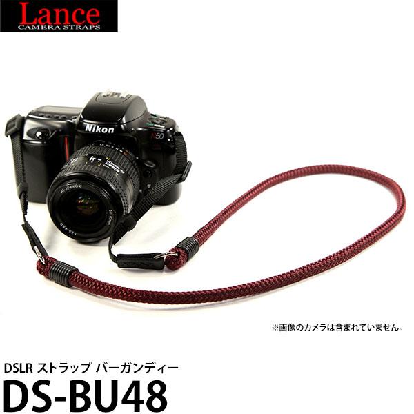 メール便 送料無料 ランスカメラストラップス DS-BU48 DSLR ストラップ バーガンディー 返品不可 Lance ミラーレス 編み込み紐 一眼レフカメラ向け ネックストラップ Camera Straps 海外