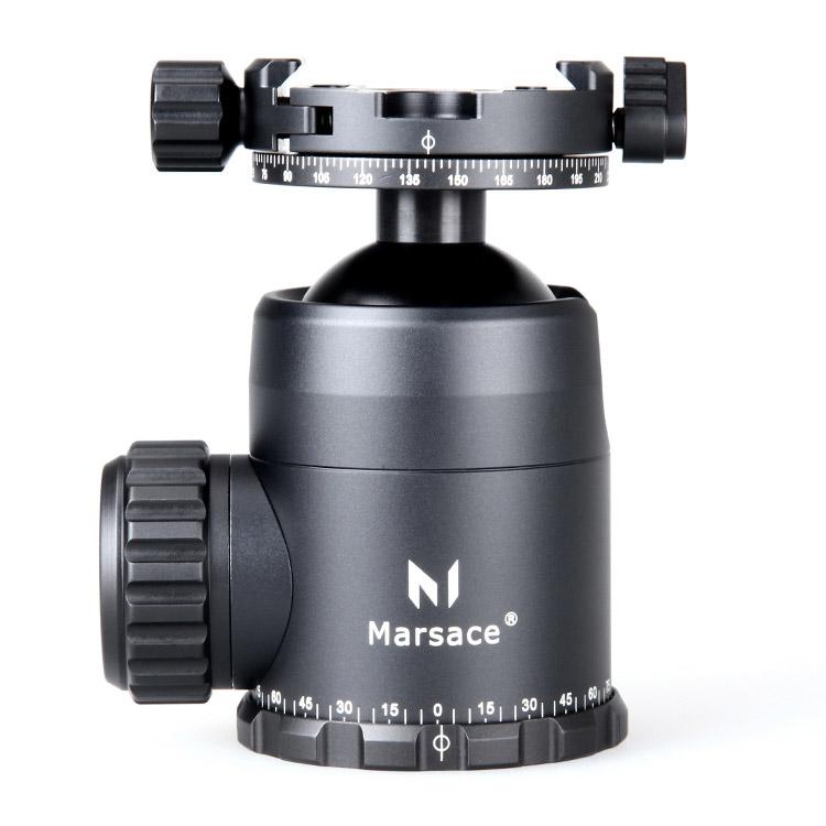 【送料無料】 Marsace FB-2R 自由雲台 パンニングクランプ付 [耐荷重30kg/アルカスイス互換シュー/フリクションコントロール付/パノラマ雲台/マセス]