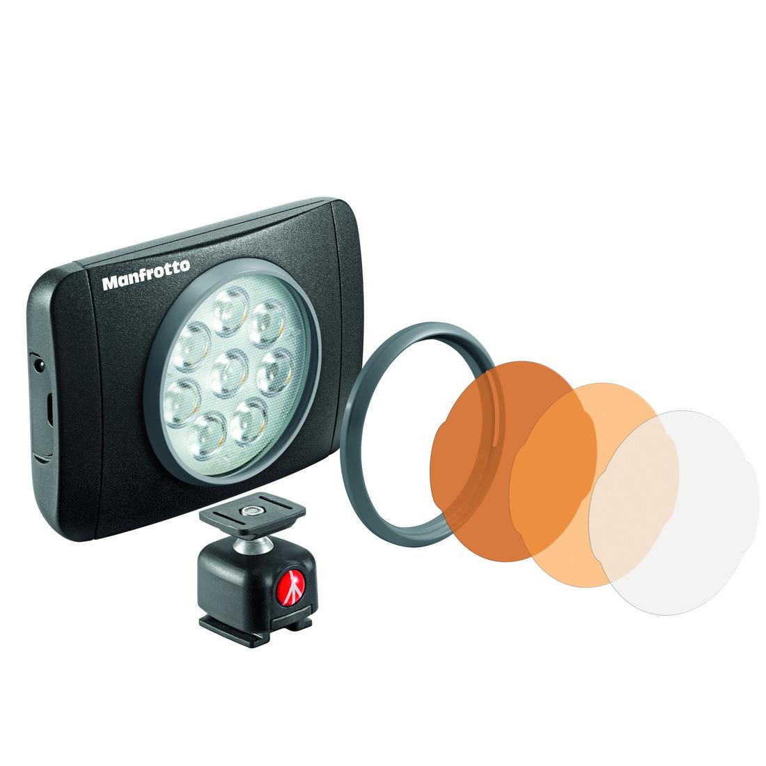 【送料無料】 マンフロット MLUMIEMU-BK LUMI MUSE LEDライト 550lux [色温度5600K/照度550ルクス/三脚&ホットシューに取り付け可/撮影用LEDライト/Manfrotto]