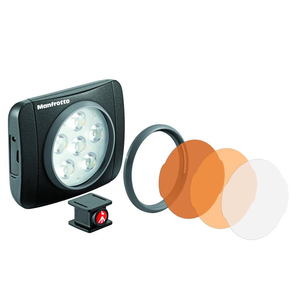【送料無料】 マンフロット MLUMIEART-BK LUMI ART LEDライト 440lux [色温度5600K/照度440ルクス/三脚&ホットシューに取り付け可/撮影用LEDライト/Manfrotto]