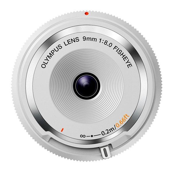 【送料無料】 オリンパス BCL-0980 WHT フィッシュアイボディーキャップレンズ ホワイト [ボディキャップの代わりになる魚眼レンズ/焦点距離18mm相当]