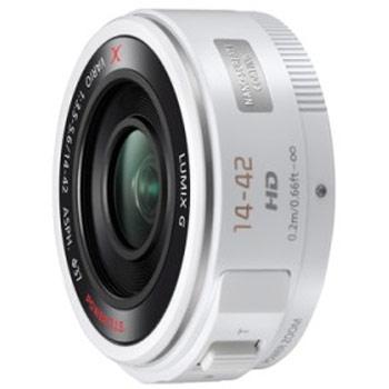 【送料無料】 パナソニック H-PS14042-W LUMIX G X VARIO PZ 14-42mm/F3.5-5.6 ASPH./ POWER O.I.S. ホワイト