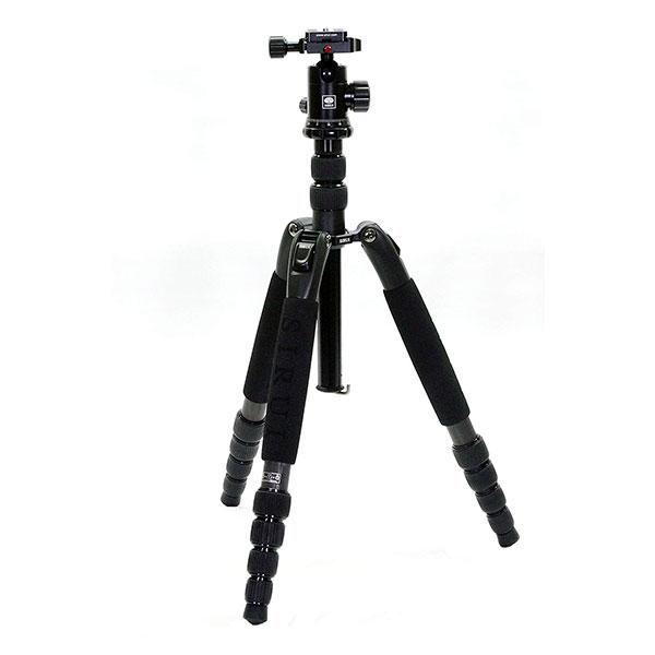 【送料無料】 SIRUI A-1205+Y-11 Aシリーズ カーボン三脚5段 [高さ149cm/最低高35cm/格納高37cm/耐荷重10kg/自重1.3kg/自由雲台付属/三脚ケース付属/カメラ三脚/シルイ]