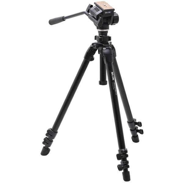 【送料無料】 スリック ビデオグランデII N 中型ビデオ三脚 ビデオ雲台付き
