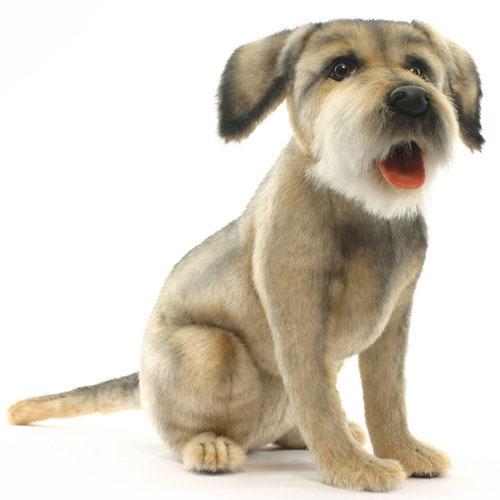 本物みたいなイヌのぬいぐるみ ボーダーテリア 44cm 送料無料 本日の目玉 希少