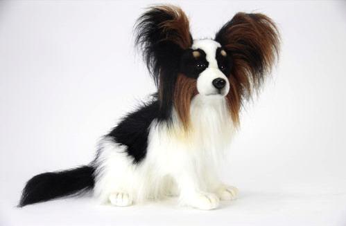 本物みたいなイヌのぬいぐるみ パピヨン 商舗 座り40cm 送料無料 ブランド激安セール会場
