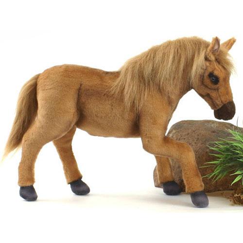 パロミノ 50cm【送料無料】オーストラリア生まれのブランドHANSA(ハンサ)の安全で良質なファーを使用した、本物そっくり馬(うま)のぬいぐるみ