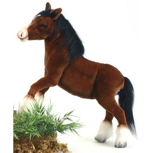 クライズデールホース 50cm【送料無料】オーストラリア生まれのブランドHANSA(ハンサ)の安全で良質なファーを使用した、本物そっくり馬(うま)のぬいぐるみ