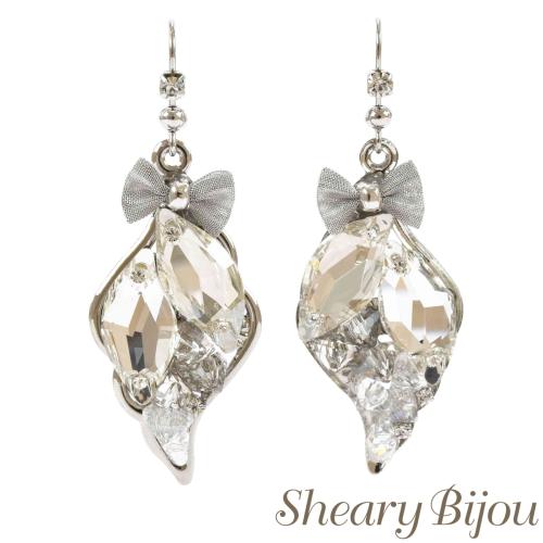 With Ribbon Pierced Earrings Swarovski Vi Scheduling Wedding Bridal Bride Party Women S Ociation