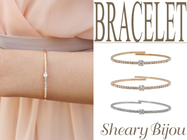 One Stone With A Simple Line Bracelet Wedding Bracelets Party Invited 10p05nov16