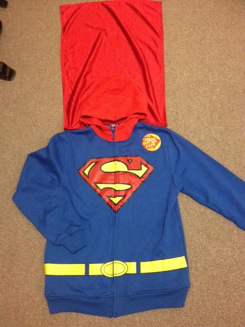 SUPERMAN PARKER ☆USA直輸入品 スーパーマン UPパーカー☆ メーカー公式ショップ セットアップ マント付きZIP