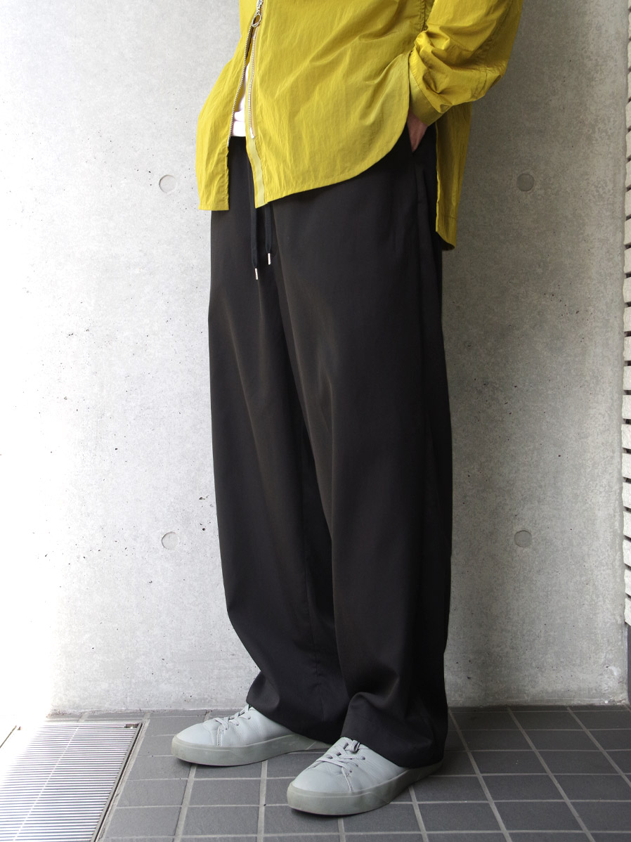 <2020AW> ANEI | アーネイ // ISLE PANTS <ワイドパンツ> - BLACK