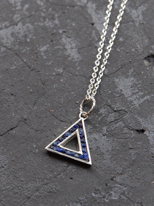 Garden of Eden | ガーデンオブエデン // SILVER TRIANGLE NECKLACE <シルバーネックレス>【送料無料】