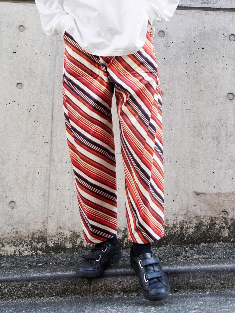 SALE 即日発送 期間限定今なら送料無料 都内店より発送 MASU マス ストア エムエーエスユー VASE FADED パンツ WORK PANTS PATTERN - ORANGE