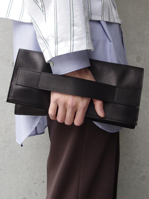 PATRICK STEPHAN | パトリックステファン // Leather shoulder clutch bag 'tape' #182ABG05 <ショルダーバッグ/クラッチバッグ>