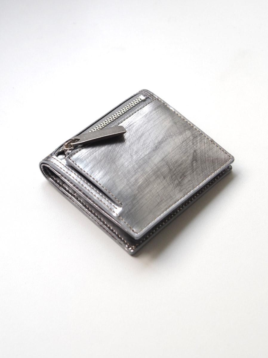 送料無料 返品可 贈与 メンズ レザー小物 返品OK 最短即日出荷で東京のセレクトショップより直接お届け++ PATRICK STEPHAN パトリックステファン #182AWA06 wallet - minimal SCRATCH Leather 財布 国内正規品 SILVER