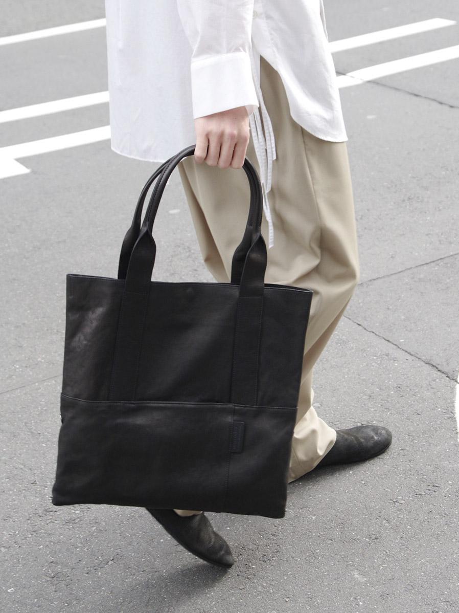 PATRICK STEPHAN | パトリックステファン // Leather tote 'thin & light' 2 #183ABG13 <ショルダーバッグ ハンドバッグ>