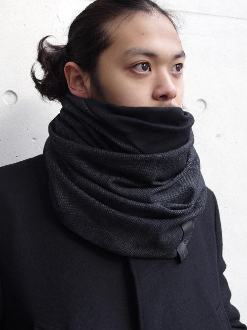PATRICK STEPHAN | パトリックステファン // Jersey scarf 'fuji' #182ASF19 <ネックウォーマー/スヌード> - BLACK MIX