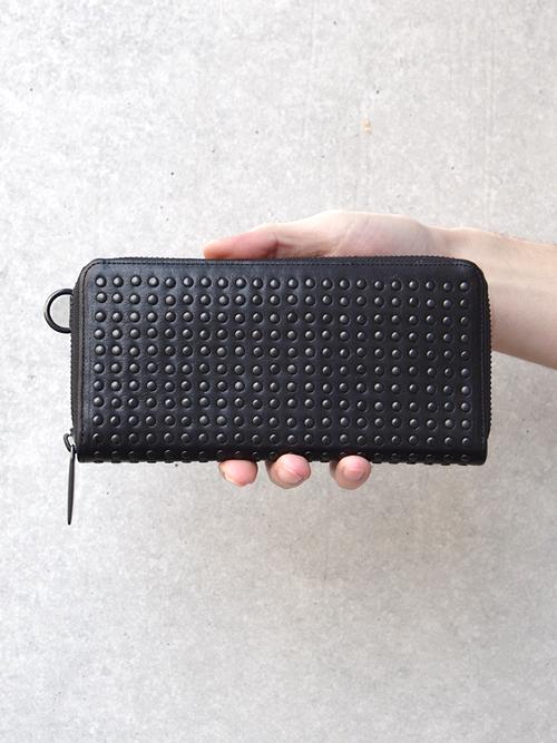 PATRICK STEPHAN | パトリックステファン // Leather long wallet fold 'all-studs'2 - #153AWA03 <長財布> - BLACK STUDS