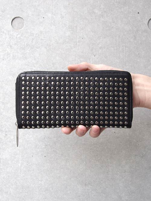 PATRICK STEPHAN   パトリックステファン // Leather long wallet fold 'all-studs'2 - #153AWA03 <長財布> - SILVER STUDS