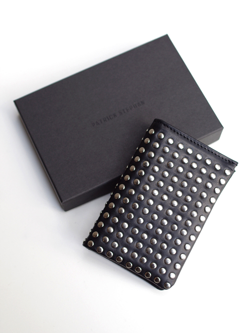 PATRICK STEPHAN | パトリックステファン // Leather card case 'all-studs'- SILVER STUDS #106AAO13 <名刺入れ/カードケース>