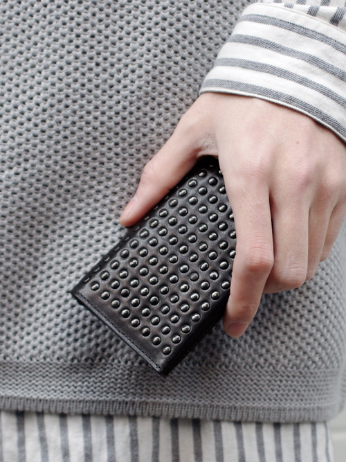 PATRICK STEPHAN   パトリックステファン // Leather card case 'all-studs'- DAL STUDS #106AAO13 <名刺入れ/カードケース>