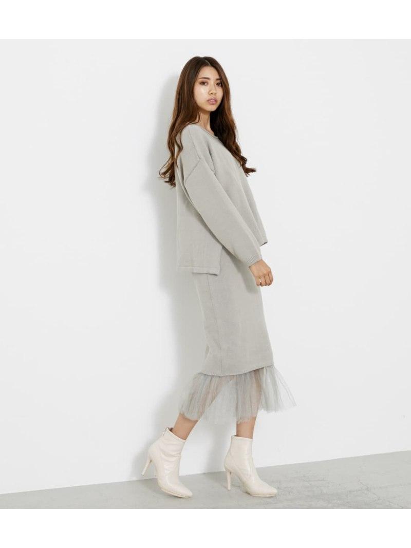 rienda レディース ワンピース リエンダ Rakuten 日本未発売 Fashion プリーツマーメードKnit ブラック グリーン UP ピンク ワンピースその他 送料無料 SET 2020 新作