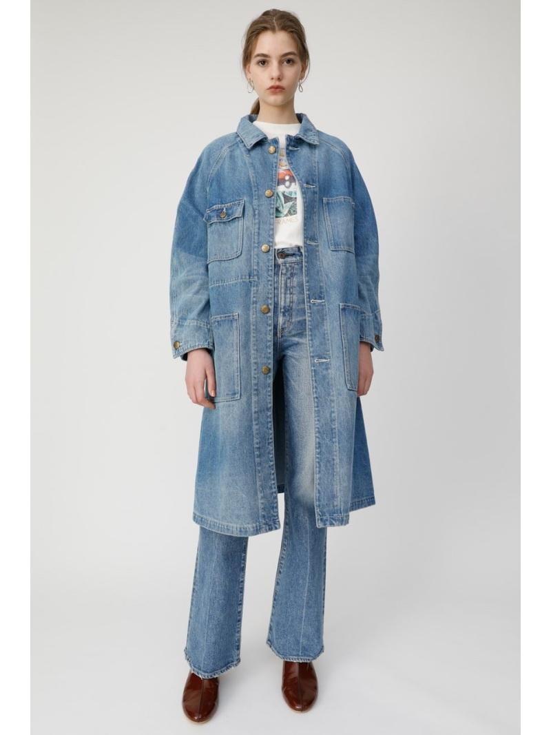 moussy レディース コート ジャケット 美品 マウジー MOUSSY Rakuten Fashion 送料無料 RBA_E 国内即発送 SALE DENIM ジャケットその他 ブルー 20%OFF DUSTER
