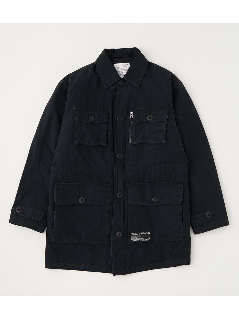 RODEO CROWNS WIDE BOWL メンズ コート ジャケット メーカー再生品 ロデオクラウンズワイドボウル ブラック Rakuten ジャケットその他 2WAY 送料無料 休日 M-65 Fashion