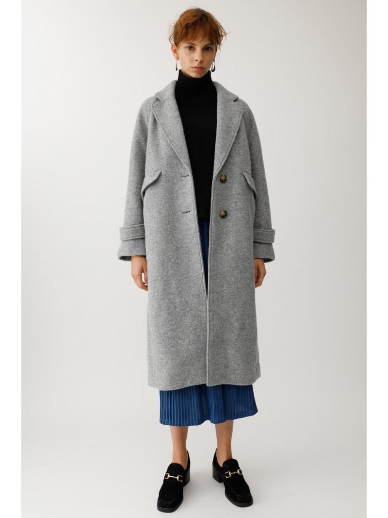 moussy レディース コート ジャケット マウジー MOUSSY 日本最大級の品揃え Rakuten WOOL グレー SINGLE ジャケットその他 BREASTED Fashion 日本未発売 送料無料