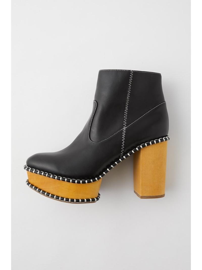 moussy レディース 定番 シューズ マウジー MOUSSY 最新号掲載アイテム Rakuten Fashion ブーツ SOLE ブラック WOOD シューズその他 送料無料
