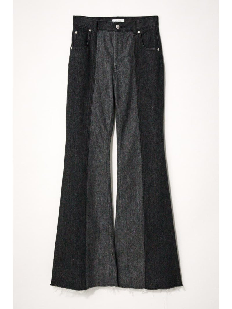 LAGUA GEM 激安通販販売 レディース パンツ メーカー再生品 ジーンズ ラグア ジェム Rakuten SHELL ブラック FLARE DENIM ストレートジーンズ Fashion 送料無料