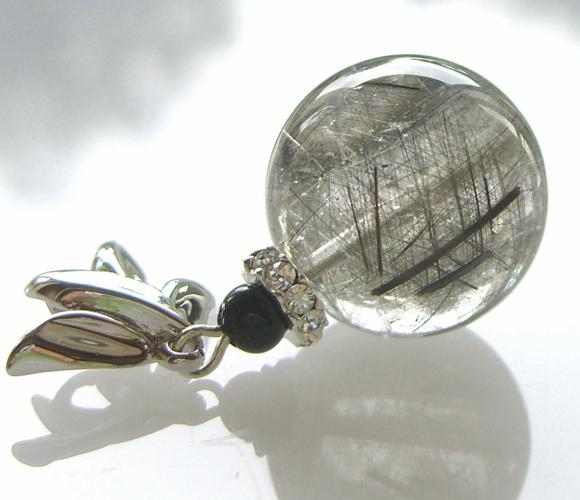 珍しい極上天然石【B&Sルチル水晶】16ミリUP SV925 ペンダントップ【送料無料 パワーストーン】